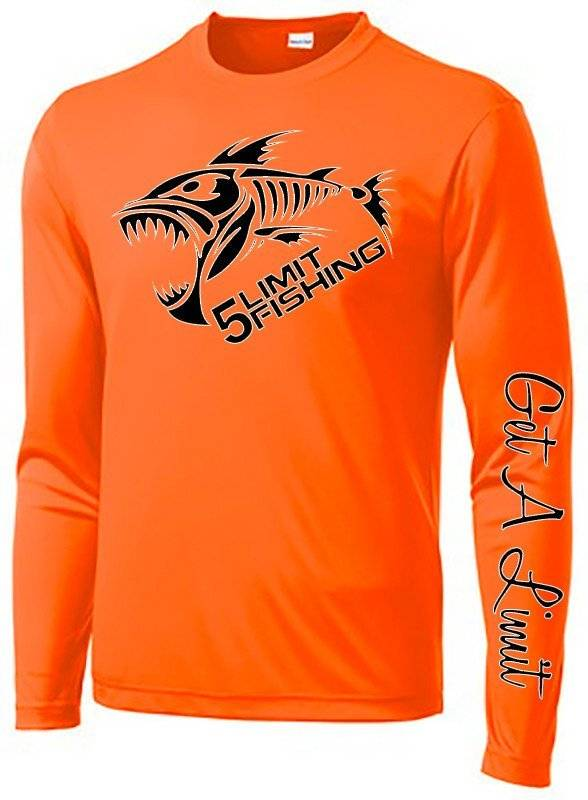 5Limit Fishing Tournament Performance Shirt Big Fish Logo