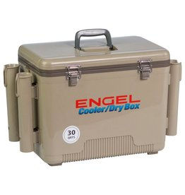 30Qt w/ 4 Rod Holders Tan Engel Ice/Dry Box