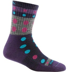 Darn Tough Socks Hike / Trek Blazes Micro Crew Cushion Purple Medium