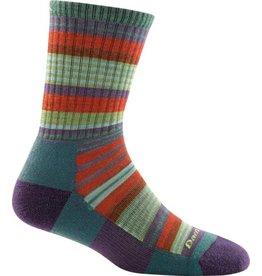 Darn Tough Socks Hike/Trek Sierra Stripe Jr Micro Crew Light Cushion Teal Medium