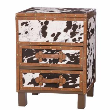 Cowhide Cabinet SHIPS FREE