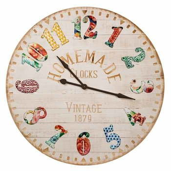 "Folk Art Wall Clock, 39"" SHIPS FREE"