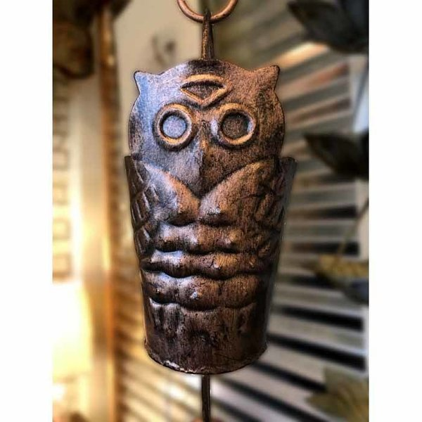 Antique Copper Owl Rain Chain