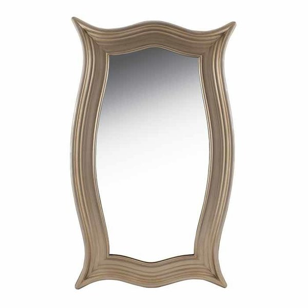 Champagne Carved Wood Mirror SHIPS FREE
