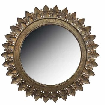 Metal Leaf Medallion Mirror SHIPS FREE