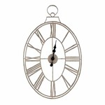 White Wire Metal Clock SHIPS FREE