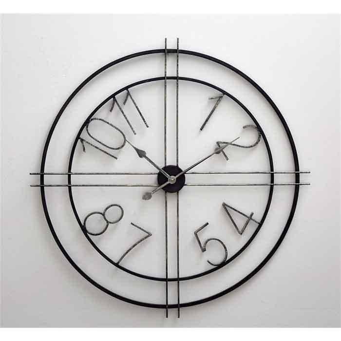 Deco Metal Clock Chalk It Up
