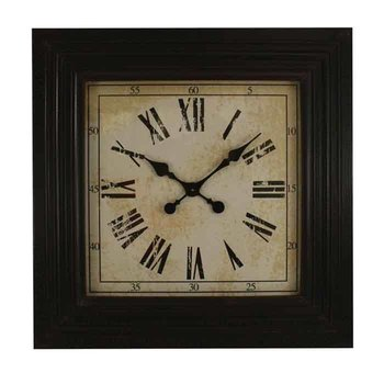 Black Square Wood Clock SHIPS FREE