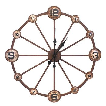 Vintage Wheel Clock SHIPS FREE