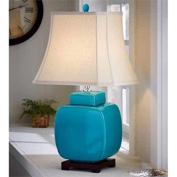 Turquoise Ceramic Jar Lamp SHIPS FREE