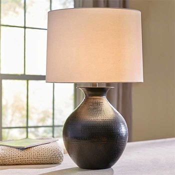 Hammered Metal Table Lamp SHIPS FREE