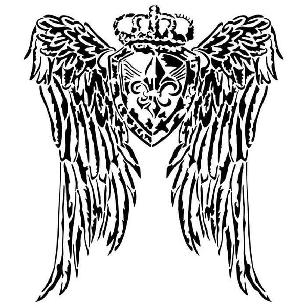 "Artisan Enhancements Artisan Enhancements Crested Wings Stencil 14'x16"""