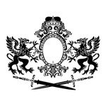 """Artisan Enhancements Artisan Enhancements Griffins & Arms Stencil  12""""x15"""""""