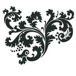 """Artisan Enhancements Artisan Enhancements Leafy Scroll Stencil, 9""""x10.5"""""""