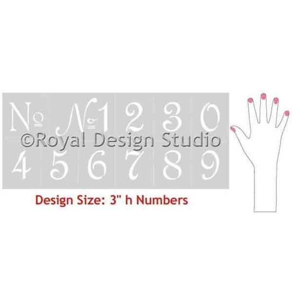 Royal Design Studio French Numbers Typography Stencil Set