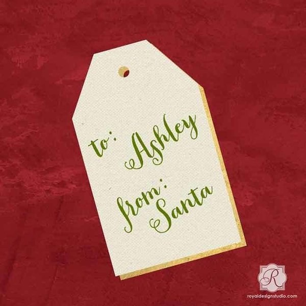 Royal Design Studio Gift Tag 3 Christmas Stencil