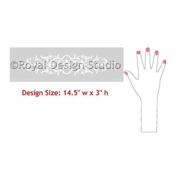 Royal Design Studio Micah Classic Panel & Furniture Stencil, Small