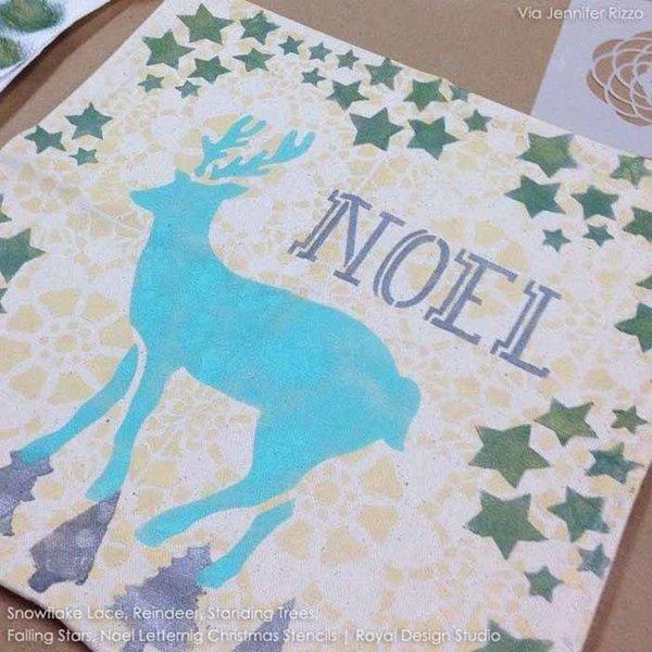 Royal Design Studio Noel Lettering Christmas Stencil
