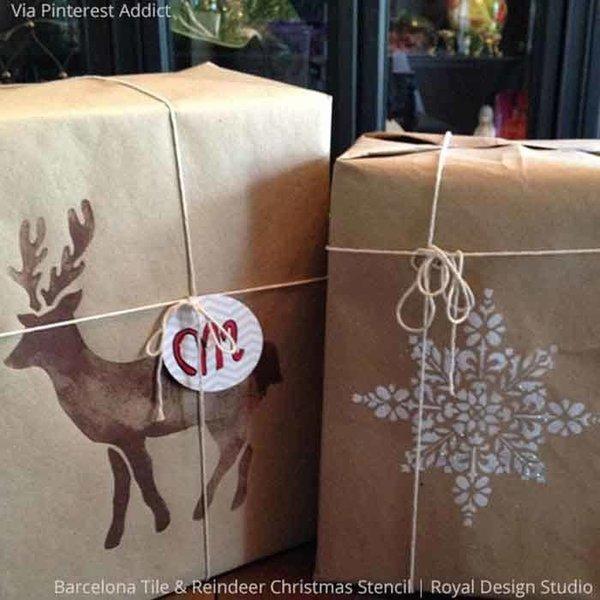 Royal Design Studio Reindeer Christmas Stencil