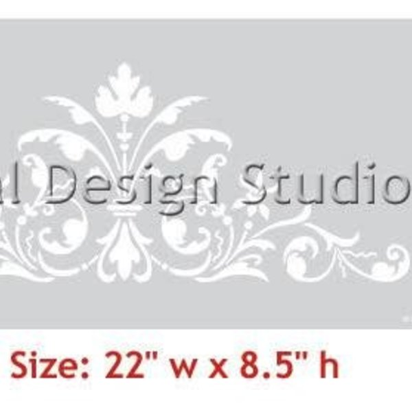 Royal Design Studio Renaissance Door Crown Classic Panel Stencil
