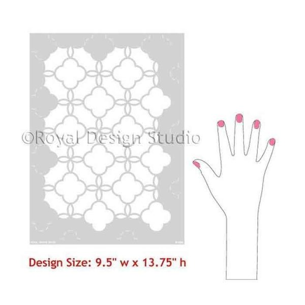Royal Design Studio Eastern Lattice Moroccan Stencil, Small