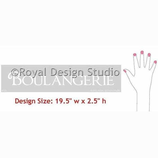 Royal Design Studio Boulangerie Lettering Stencil