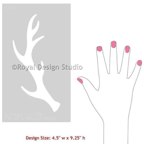 Royal Design Studio Antlers Christmas Stencil