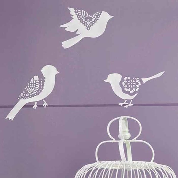 Royal Design Studio Small Sweet Tweets Set A Stencil