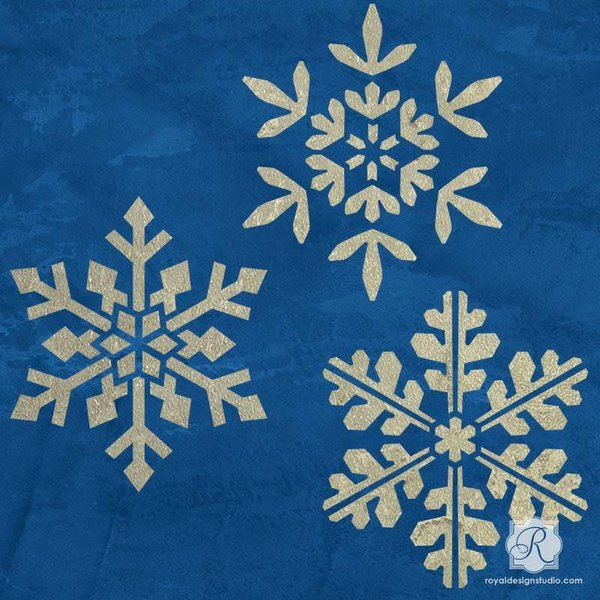 Royal Design Studio Small Winter Snowflake Set Stencil