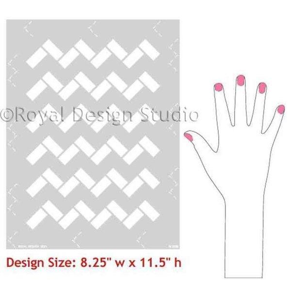 Royal Design Studio Zig Zag Tiles Moroccan Stencil