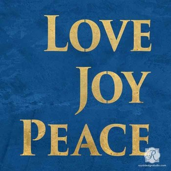 Royal Design Studio Love Joy Peace