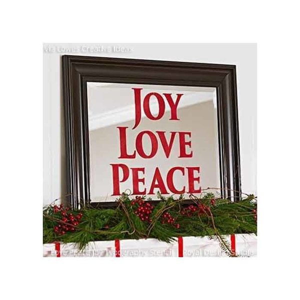 Royal Design Studio Love Joy Peace Lettering Christmas Stencil