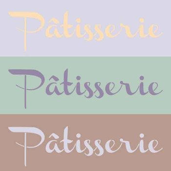 Royal Design Studio Patisserie Lettering