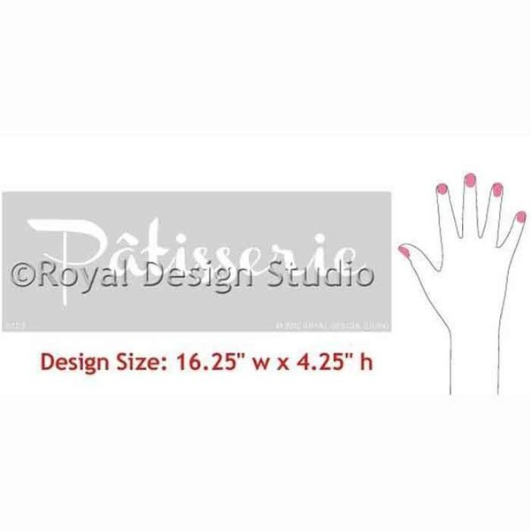 Royal Design Studio Patisserie Lettering Stencil
