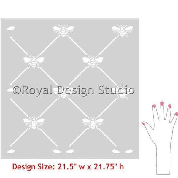 Royal Design Studio French Bee Trellis Stencil