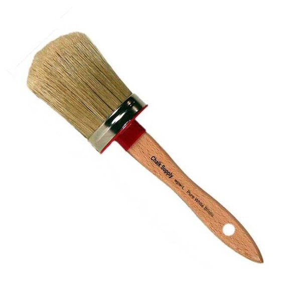"Chalk Supply Chalk Supply Large White Bristle Paint Brush, 2-1/2"""