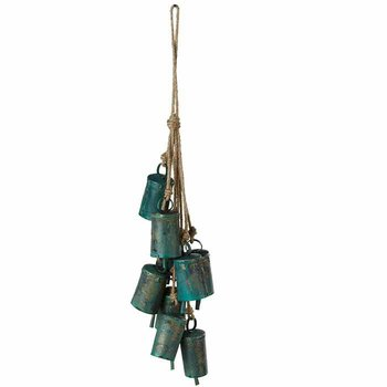 Green Patina Bell Cluster Chime