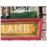 Joe Maddox Hand Carved & Painted Relief Sign