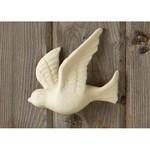 Porcelain Bisque Bird Wall Clock