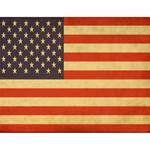 US Flag Decoupage Paper