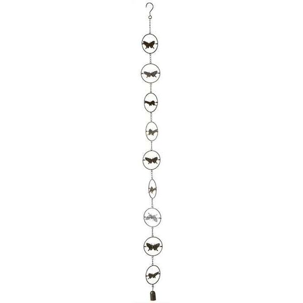 Kinetic Butterfly Rain Chain w/ Bell