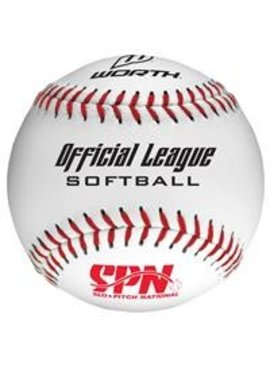 WORTH SPN 105L Softball Ball