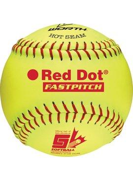 "WORTH RED DOT 11"" Softball Ball"