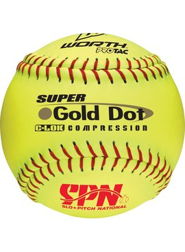 WORTH GOLD DOT SPN Softball Ball