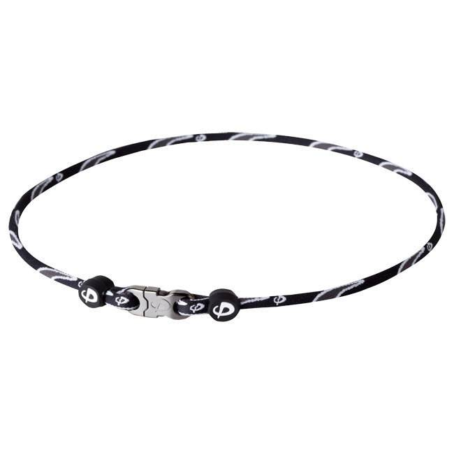 PHITEN COLLIER RAZOR TITANIUM BLACK/GREY 22""