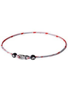 PHITEN COLLIER RAZOR TITANIUM RED/GREY 22""