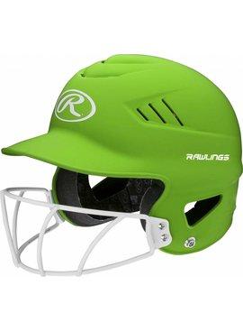 RAWLINGS RCFHLFG Adult Highlighter Batting Helmet With Faceguard