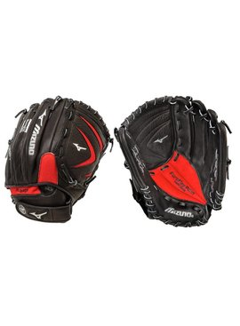 "MIZUNO GPT1150Y1 Prospect Paraflex Black/Red 11.5"" Youth Baseball Glove"