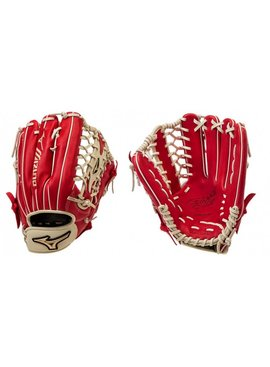 "MIZUNO GGE72 Global Elite Red/Cream 12.75"" Baseball Glove"