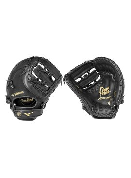 "MIZUNO GXF102 Prospect Youth Black 12.5"" Firstbase Fastpitch Glove"